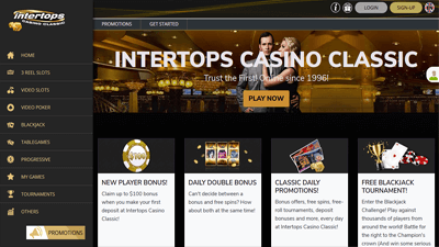 Intertops Casino Classic Homepage